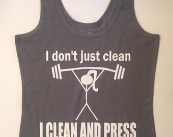 Running tank ~ Workout Tank~ I clean and press