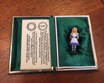 Hand Painted Alice In Wonderland Figurine