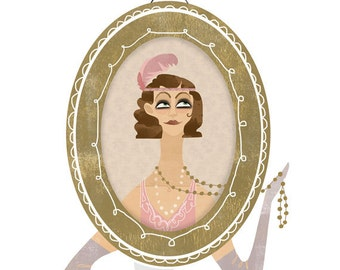 1920s - Roaring Twenties Fashion Illustration - A4 or A5 Digital Print