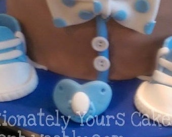 Baby Shoes Cake Topper | Fondant Baby Shoes | Edible Baby Shoes | Baby Shower Cake Toppers