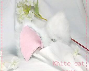 White Nekomimi Cat ears