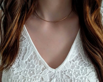 Gold Filled Collar Necklace/ Sterling Silver Collar Necklace/ Gold Filled Choker/ Sterling Silver Choker/ Hammered Choker