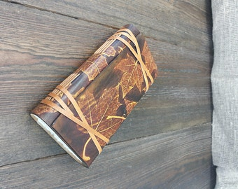 Leather Book, Handmade unique leather journal with belts. Travel Journal, Secrets Book, Leather Diary, Blank Book.