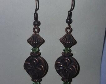 Bronze w/Swarovski crystal  Earrings