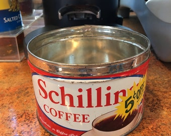 Vintage Schilling Coffee Tins - No Lids