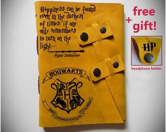Leather Harry Potter notebook/ Harry Potter diary/Personalized Harry Potter journal/Harry Potter Sketchbook/Harry potter gift