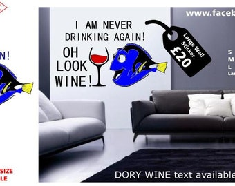 kitchen wall decal Finding Dory Wine Kitchen Nemo Wall Sticker