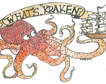 What's Kraken? Photo and Posterboard Print