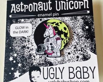 Enamel Pin: Astronaut Unicorn, Unicorn Pin, Roller Derby Pin, Lapel Pins Men, Lapel Pins Women, Roller Derby Gift, Unicorn Party