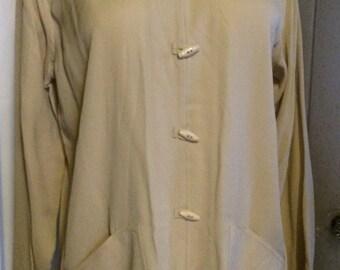 Vintage Harari Silk Blouse Jacket Mandarin Style