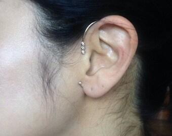 Jennie Kwon Designs Diamond Ear Cuff 14kt Designer Piece - Minimalistic