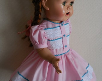 For 16 Inch Saucy Walker - Re-Creation of an Original Dress in Pink