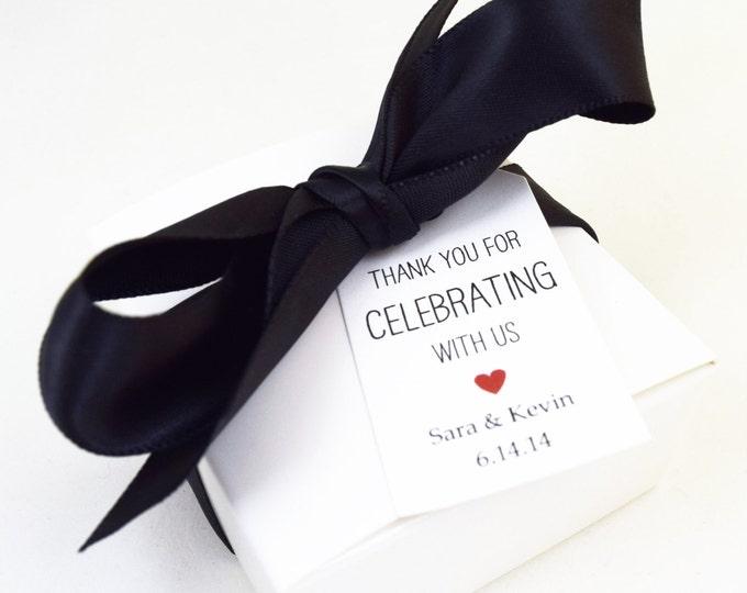 SOAP FAVORS - wedding favors, shower favors, vegan favors, white favors, party favors, gifts, black favors