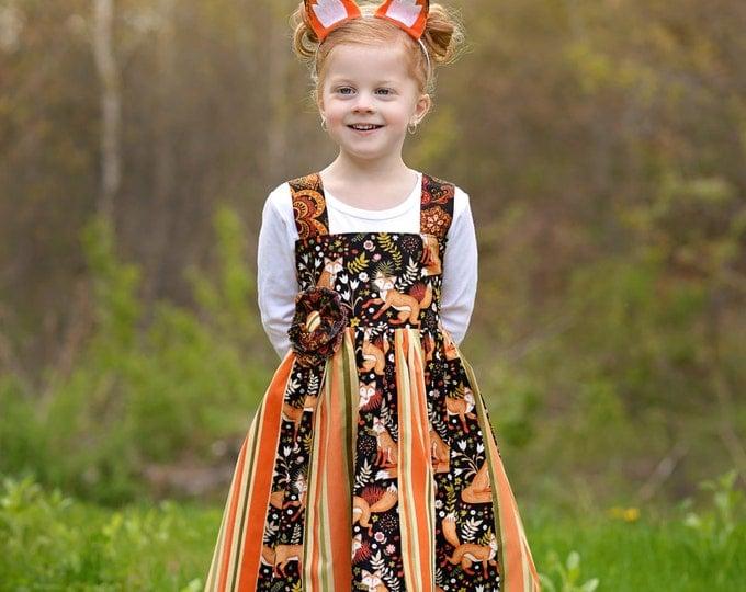 Little Fox - Boutique Dress - Little Girl Dress - Birthday Dress Toddler - 1st Birthday - Woodland Birthday - Baby Dress - 12 mo - 10 yrs