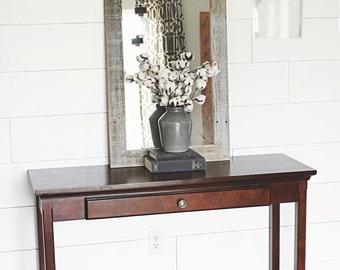 Rustic Barnwood Mirror - Flat Wood Homestead Style