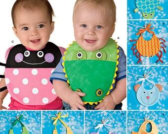 BABY BIB Sewing Pattern - Make 8 Different Infant Newborn Bibs EASY