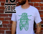 10 DOLLAR SALE--Cicada Mens Heathered Gray tshirt