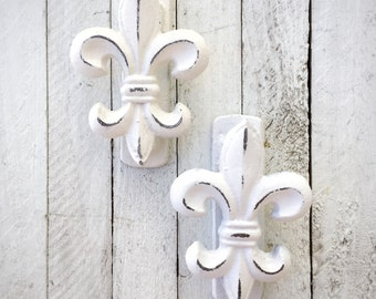 Small Door Knocker, Fleur de Lis Home Decor, Paris Accents, Iron Wall Decor, French Wall Decor, Iron Wall Decor