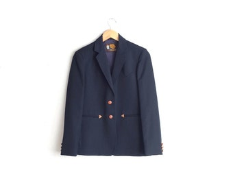 SALE // Size S/M // WESTERN BLAZER // Navy Blue - Kenny Rogers by Circle S - Vintage '70s.