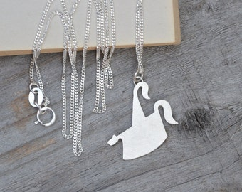 Obby Oss Necklace, May Day Necklace In Sterling Silver, Padstow Necklace Handmade In Cornwall, UK