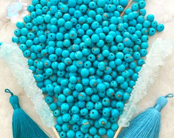 Turquoise Blue: Real Natural Acai Beads, Acai Seeds, Organic Beads, Natural Seeds, Eco-Beads, South American Beads, Pick your qty