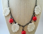 Cherry Blossom Retro Inspired Vintage Style Bakelite Fakelite Mid Century Fun by Red Hot Kitten