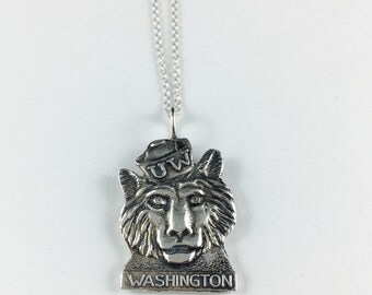 UW Necklace, UW Charm, Washington Charm, Washington Jewelry, University of Washington, Washington Necklace, UW Gift, Washington Gift