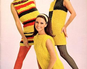Vintage 60s Stocking , Sheer Yellow Mod Fashion Stockings , NOS
