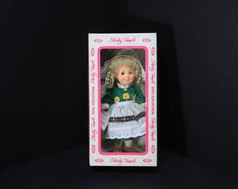 "1982 Vintage Shirley Temple Doll, 8"" IDEAL Dressed as ""Heidi""  NRFB"
