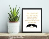 Ron Swanson Quote - One Thing I hate More Than Liars is Skim Milk Lying About Being Milk - 8x10 - Printable Wall Art - Digital Download