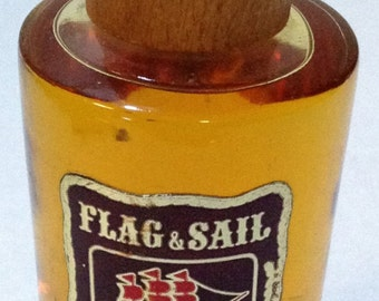 Discounted 35%~Vintage~1960s~Huntley~Flag & Sail • Wood and Leather~Men's After Shave Splash~Fragrance~4 Ounce Size~St Louis Missouri