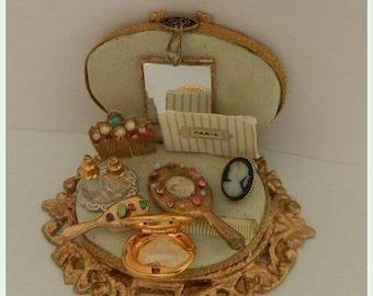 French antique miniature hair accessories, Dollhouse 1/12th