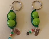 Peas in a Pod best friend key chains