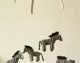 baby mobile - nursery mobile - zebra mobile - jungle mobile  - safari mobile - made to order