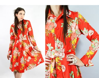 Dress Vintage 60s Dress Botanical Floral Afternoon Garden Party Dress // Vintage Dresses  by TatiTati Style on Etsy