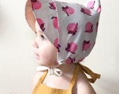1-3 yrs PEACH PIXIE BONNET baby toddler girl pointy hat
