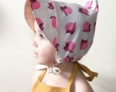 1-4 yrs PEACH PIXIE BONNET baby toddler girl pointy hat