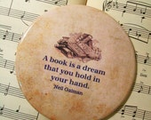 Book Club Magnet, Literary Quotes, A Book is a Dream, Large Magnet, Book Lovers, Book Magnet, Reading Club Favors