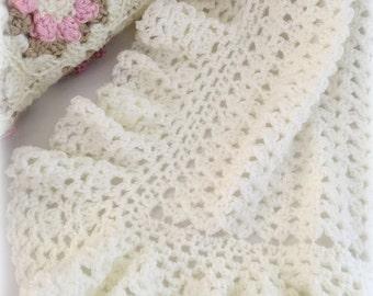 Crochet Pattern, Crochet Baby Blanket Pattern, Baby Blanket Pattern, Crochet Baby Blanket, Heirloom Lace, Patterns by Deborah O'Leary