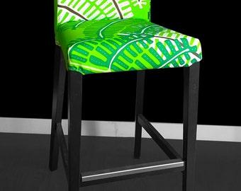 IKEA HENRIKSDAL Bar Stool Chair Cover - Green Fern