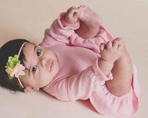 Newborn Baby Headband,Felt Mum Headband,Felt Flower Headband for Baby Girls Toddlers Infants,Pink Lime Green Yellow,Flower Cluster Headband