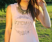Bohemian Top, XL, Shirts with Sayings, Statement Tee, Boho Top, Womens Graphic Tees