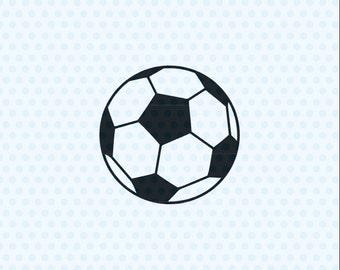 Soccer Ball Svg, Soccer Ball, Svg Files, Sports Svg, Silhouette Cut Files, Cricut Cut Files