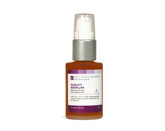 Night Serum - Essential Nourishment Face Oil - 1 oz. Organic Ingredients. Cruelty-Free Skincare, certified by Leaping Bunny.