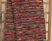 "Hand Woven Table Runner -  Burgundy Calico Cotton 13"" x 70"""