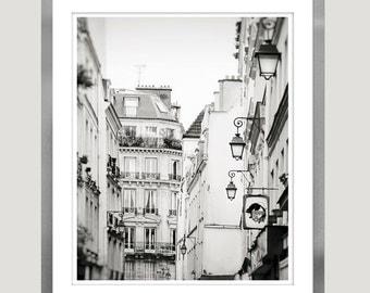 Paris Black and white photography, Paris wall art, city architectural print, Black and white wall art, large poster, 11x14 art, paris 16x20