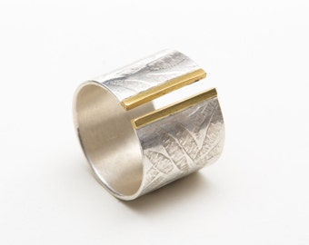 silver 'Cigar Band' Ring