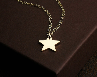 Gold star necklace star charm necklace gold star celestial necklace star necklace gold make a wish gold star jewelry star jewelry star charm