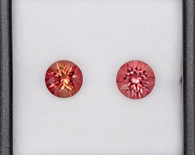 Brilliant Concave Cut Pink Tourmaline Set from Nigeria 2.91 tcw
