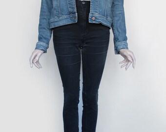 80s Vintage Blue Jean Denim Jacket for Men or Women